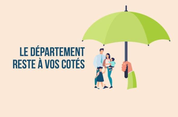 COVID-19 : LE DÉPARTEMENT DE L'EURE RESTE A VOS COTES ET ASSURE L'ESSENTIEL