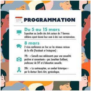 VERNON : DES ÉVÈNEMENTS À L'OCCASION DE LA JOURNÉE INTERNATIONALE DES DROITS DES FEMMES