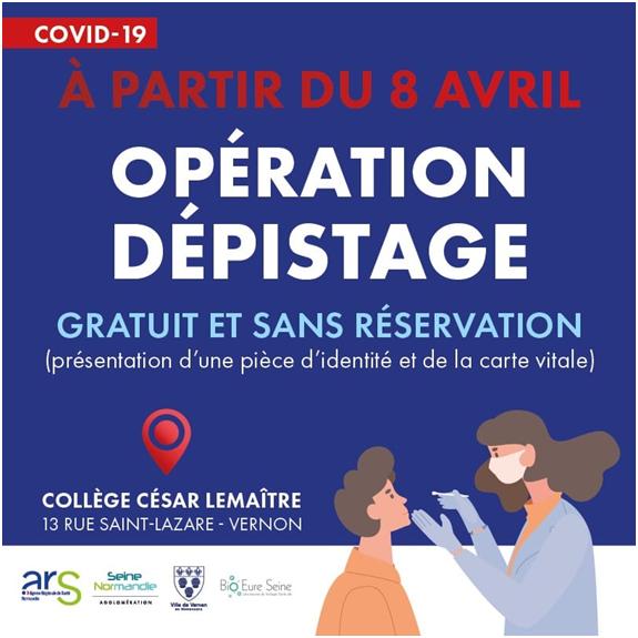 VERNON : OPÉRATION DÉPISTAGE AU COLLÈGE CÉSAR LEMAȊTRE