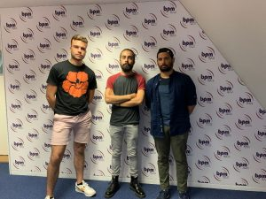 Haroon Hassan, Nathan Lutz et Hugo Saint-Michel de l'Association du Set Production