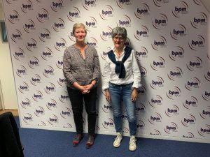 Christel Breugnon, coordinatrice administrative, et Geneviève Richard, coordinatrice en éducation thérapeutique de l'Association Planeth Patient.