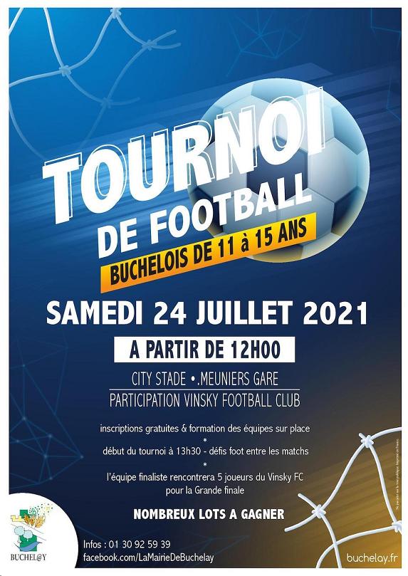 un tournoi de football est organisé pour les 11-15 ans à Buchelay