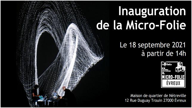 inauguration de la Micro-Folie à la Maison de quartier de Nétreville à Evreux.