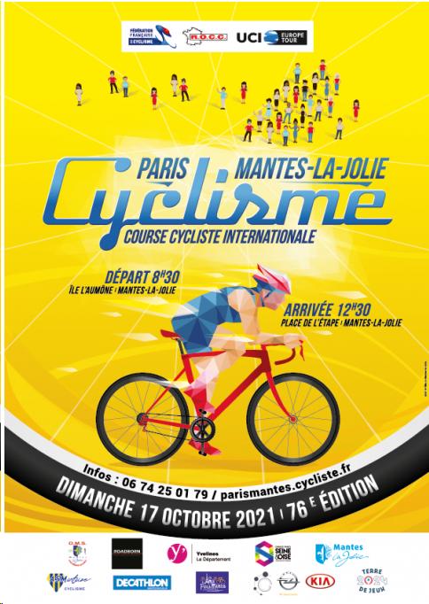 la course Paris Mantes-le-Jolie cyclisme se déroulera le 17 octobre 2021
