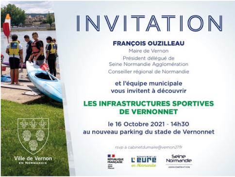 Les infrastructures sportives de Vernonnet seront présentées au public le 16 octobre 2021